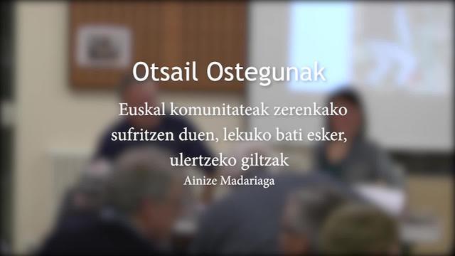 Otsail Ostegunak 2020: Komunitatea hats-bahiturik; euskal komunitateak zerendako sufritzen duen, lekuko bati esker, ulertzeko giltza