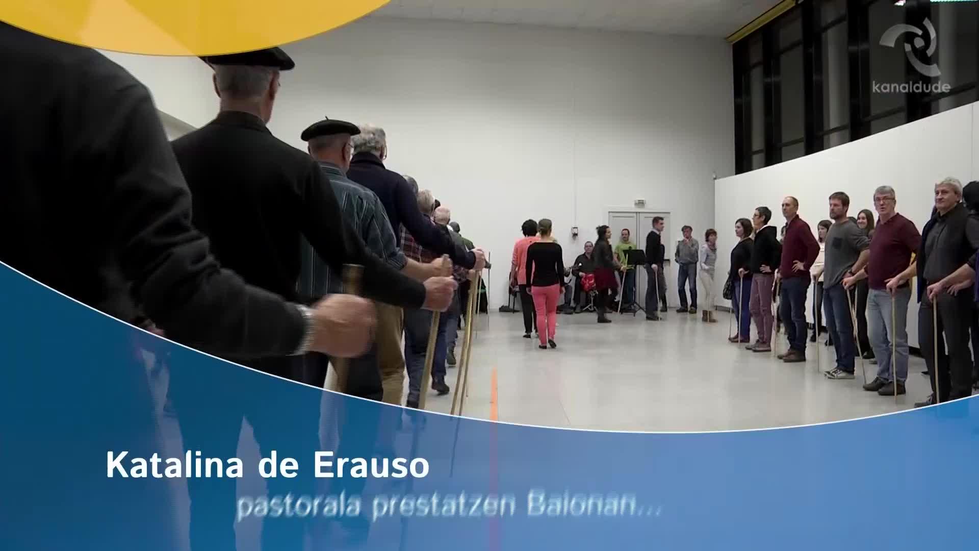 Katalina de Erauso pastorala prestatzen Baionan...
