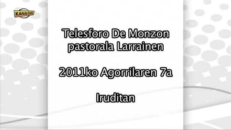 MONZON pastorala : eguna iruditan