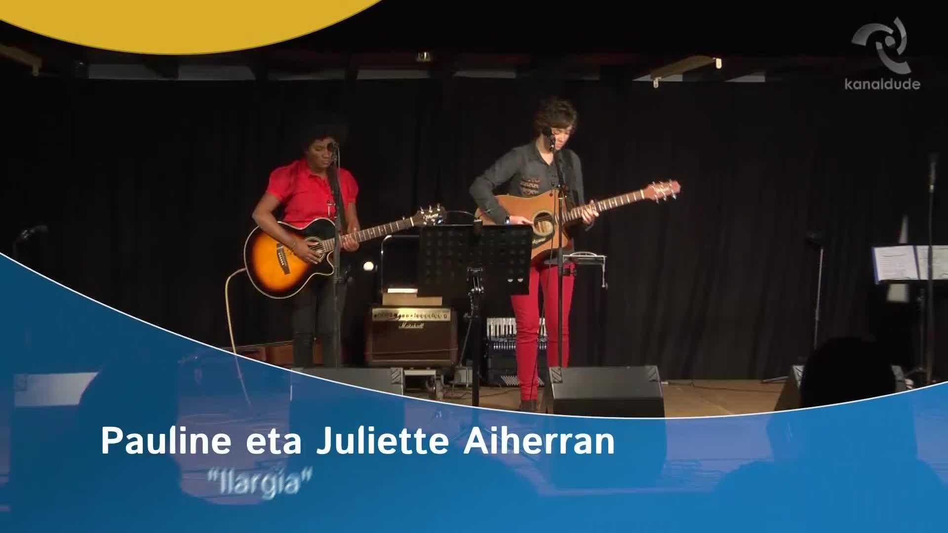 """Pauline eta Juliette Aiherran: """"Ilargia"""""""