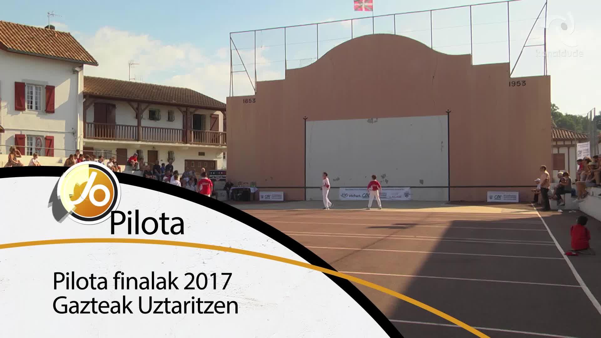 Pilotako finalak 2017 Gazteak Uztaritzen