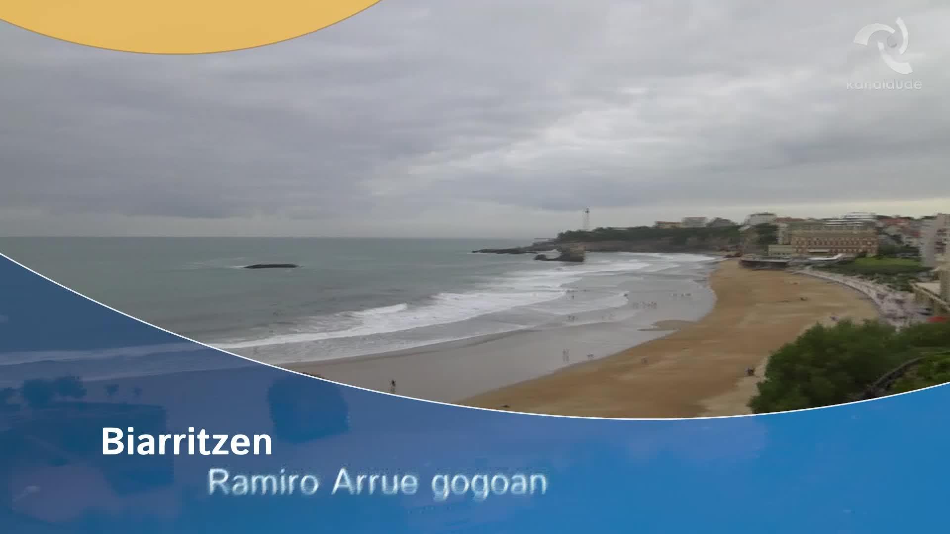 Ramiro Arrue gogoan Biarritzen