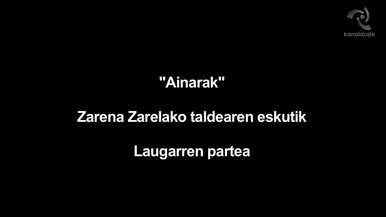 """""""Ainarak"""" ikusgarria Zarena Zarelako dantza taldeak eskeinirik (azken partea)"""
