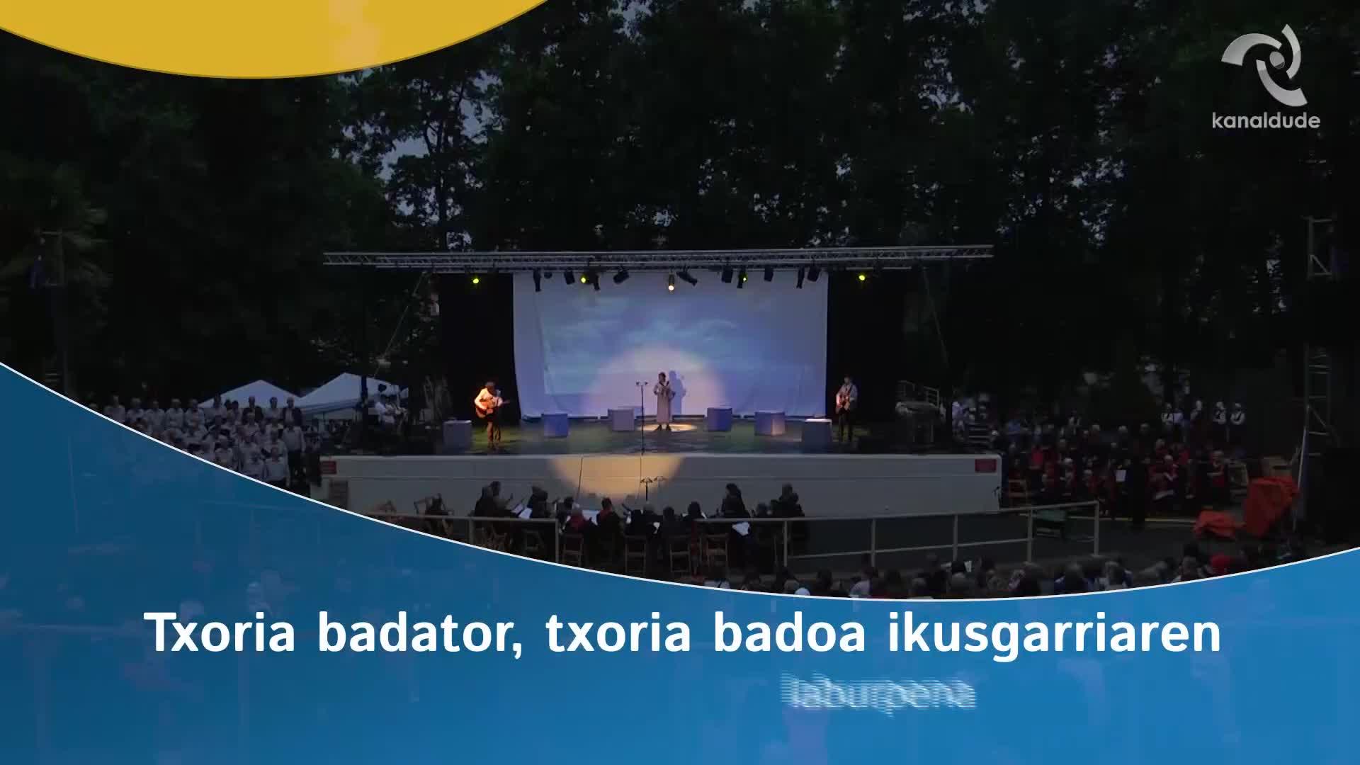 """""""Txoria badator txoria badoa"""" ikusgarriaren laburpena"""