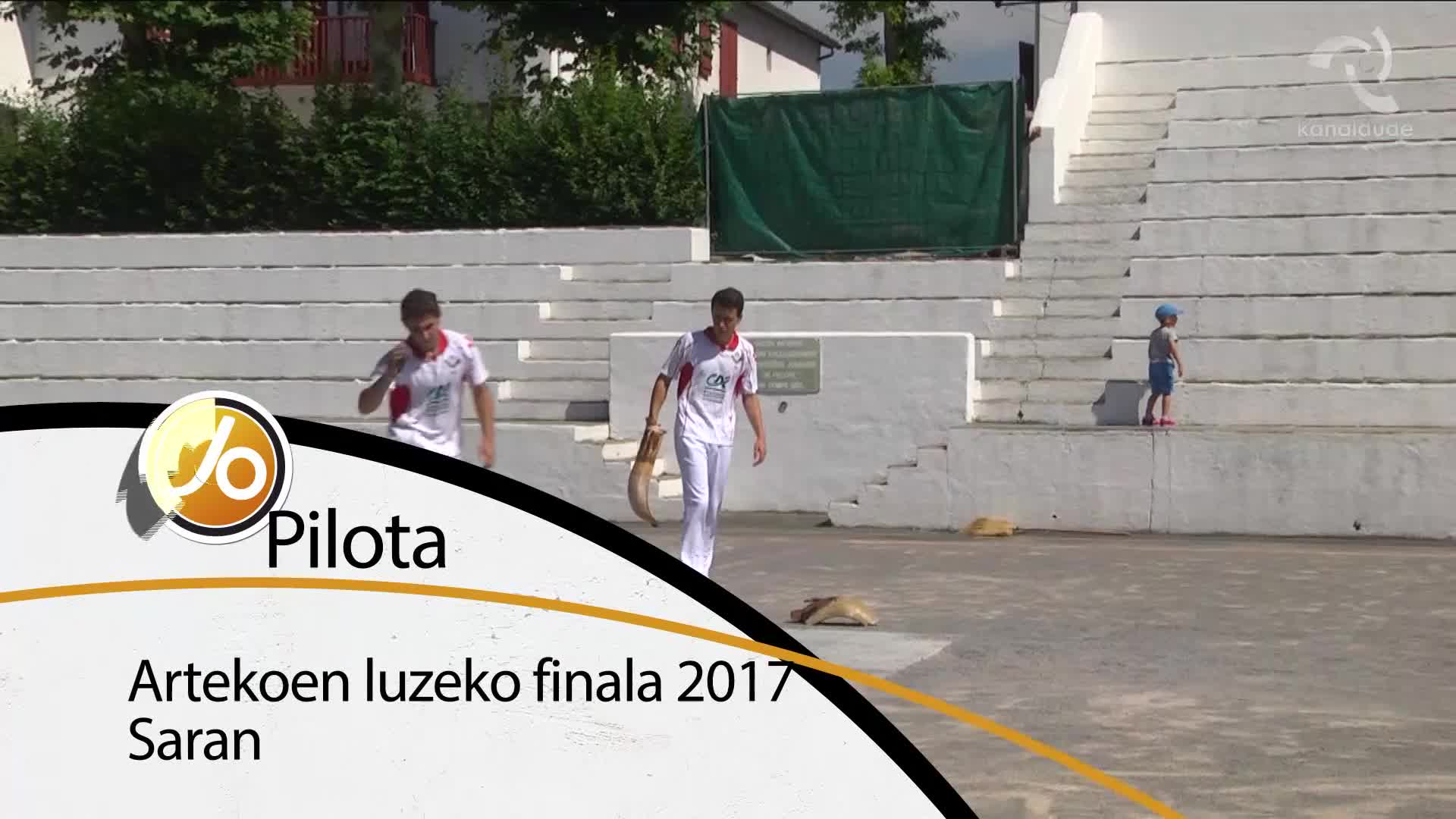 Artekoen luzeko finala 2017 Saran