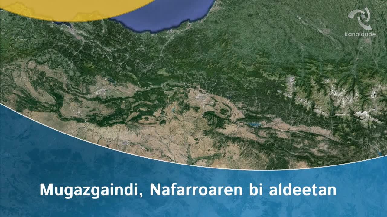 Mugazgaindi, Nafarroaren bi aldeetan