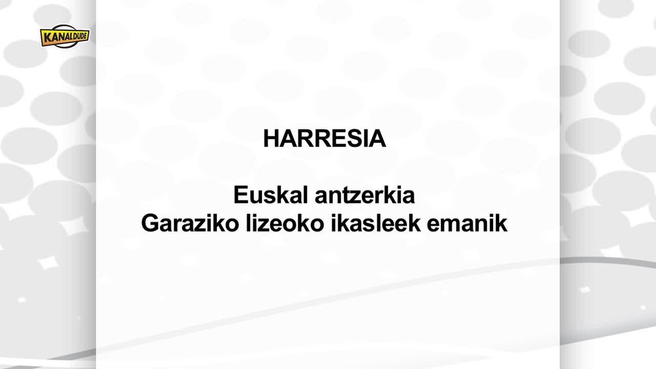 Harresia antzerkia, Garaziko lizeoko ikasleen eskutik