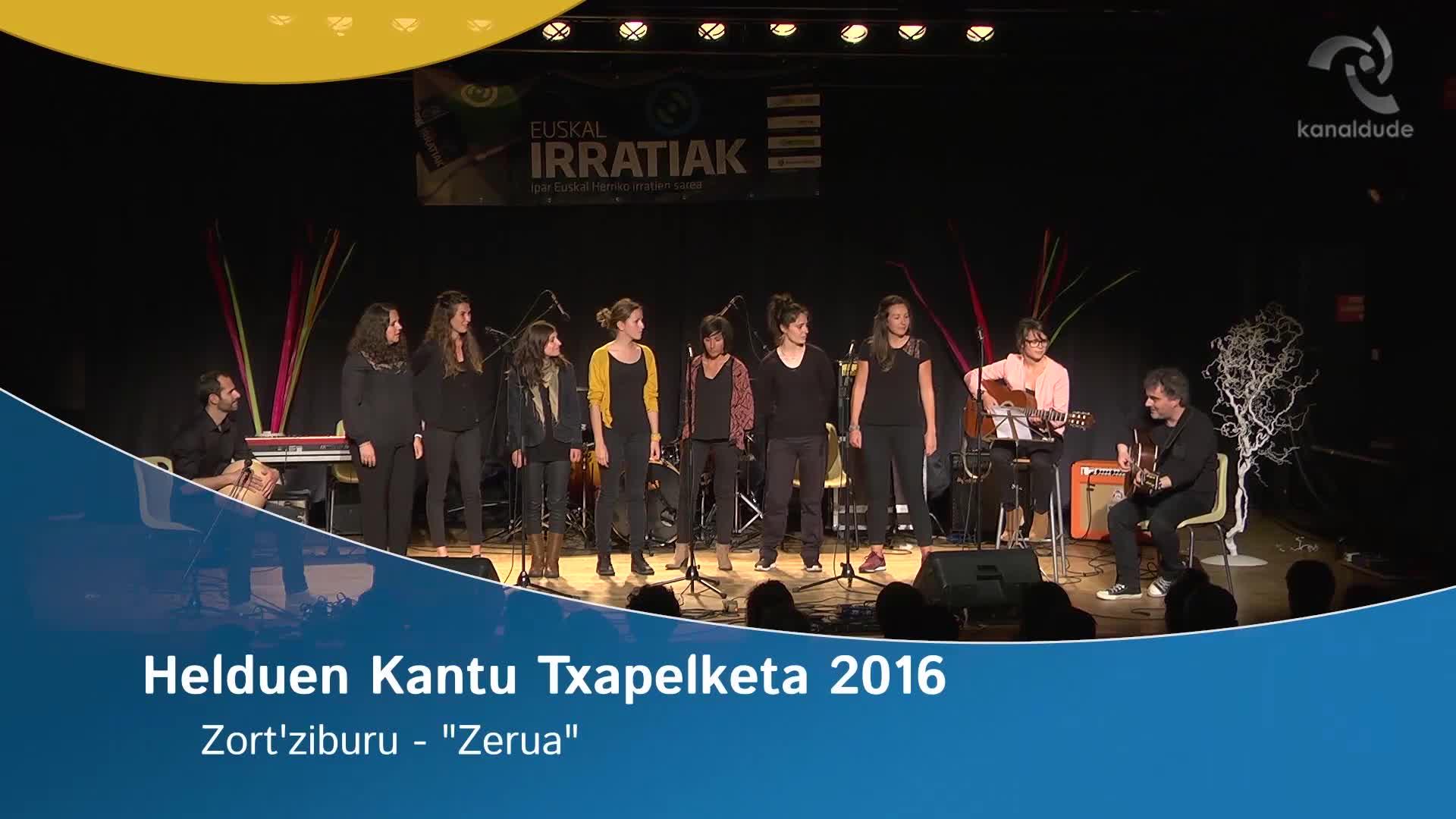 """Helduen Kantu txapelketa 2016: Zort'Ziburu """"Zerua"""""""