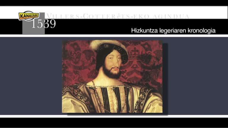 Hizkuntzen legeriaren kronologia (Deiadar 2012)