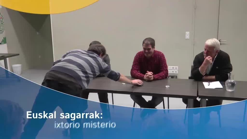 """""""Euskal sagarrak: ixtorio misterio"""" mintzaldia"""