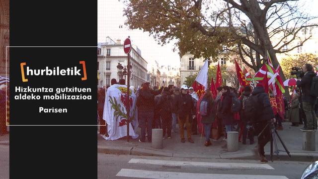 Hizkuntza gutxituen aldeko mobilizazioa Parisen