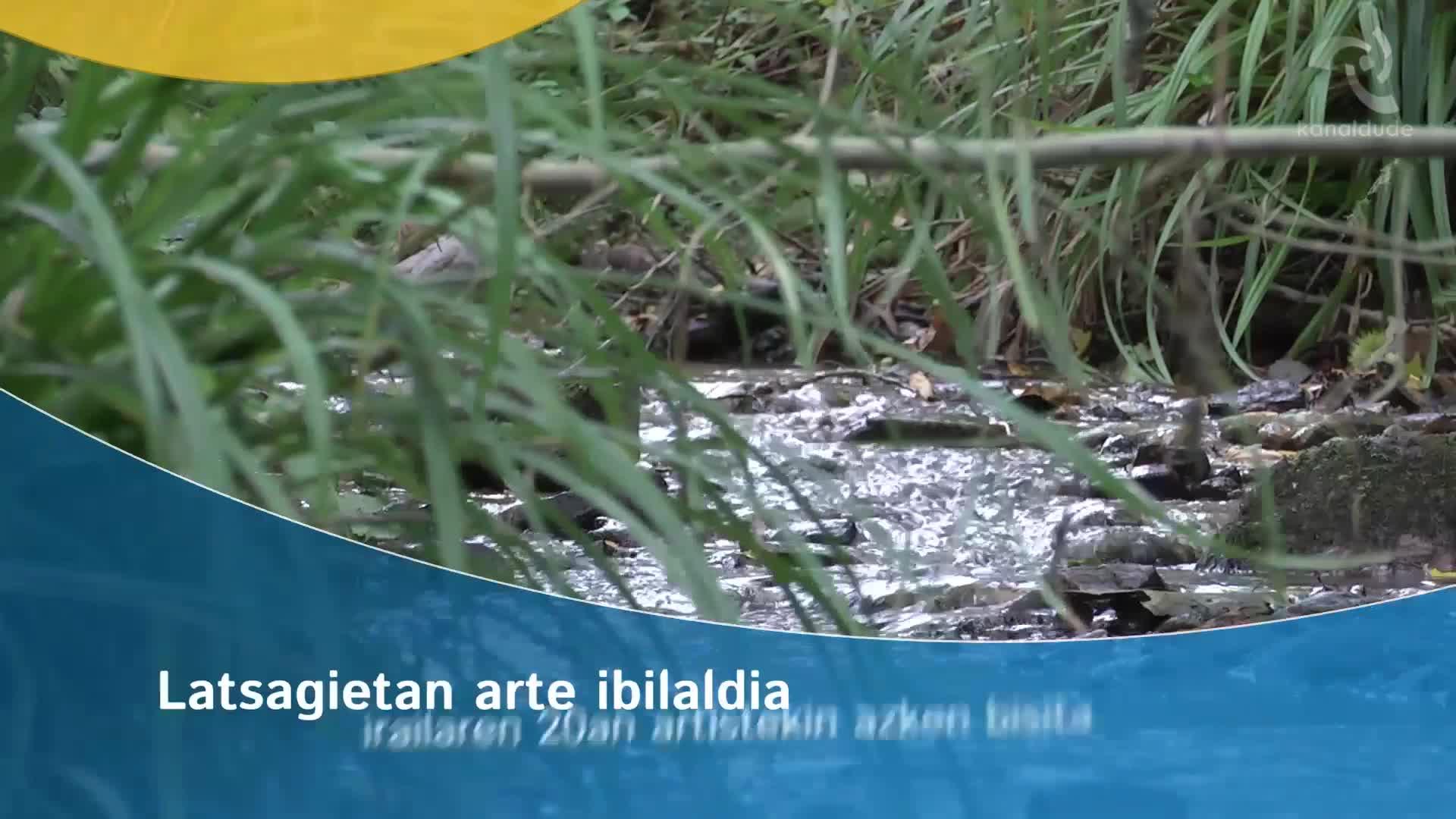 Latsagietan arte ibilbidea : irailaren 20an artistekin azken bisita