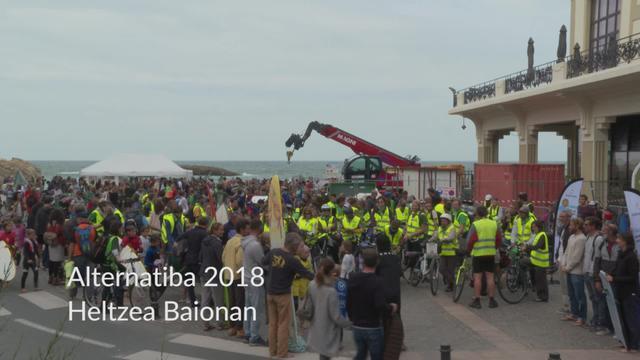 ALTERNATIBA 2018 - Tourraren heltzea Baionan