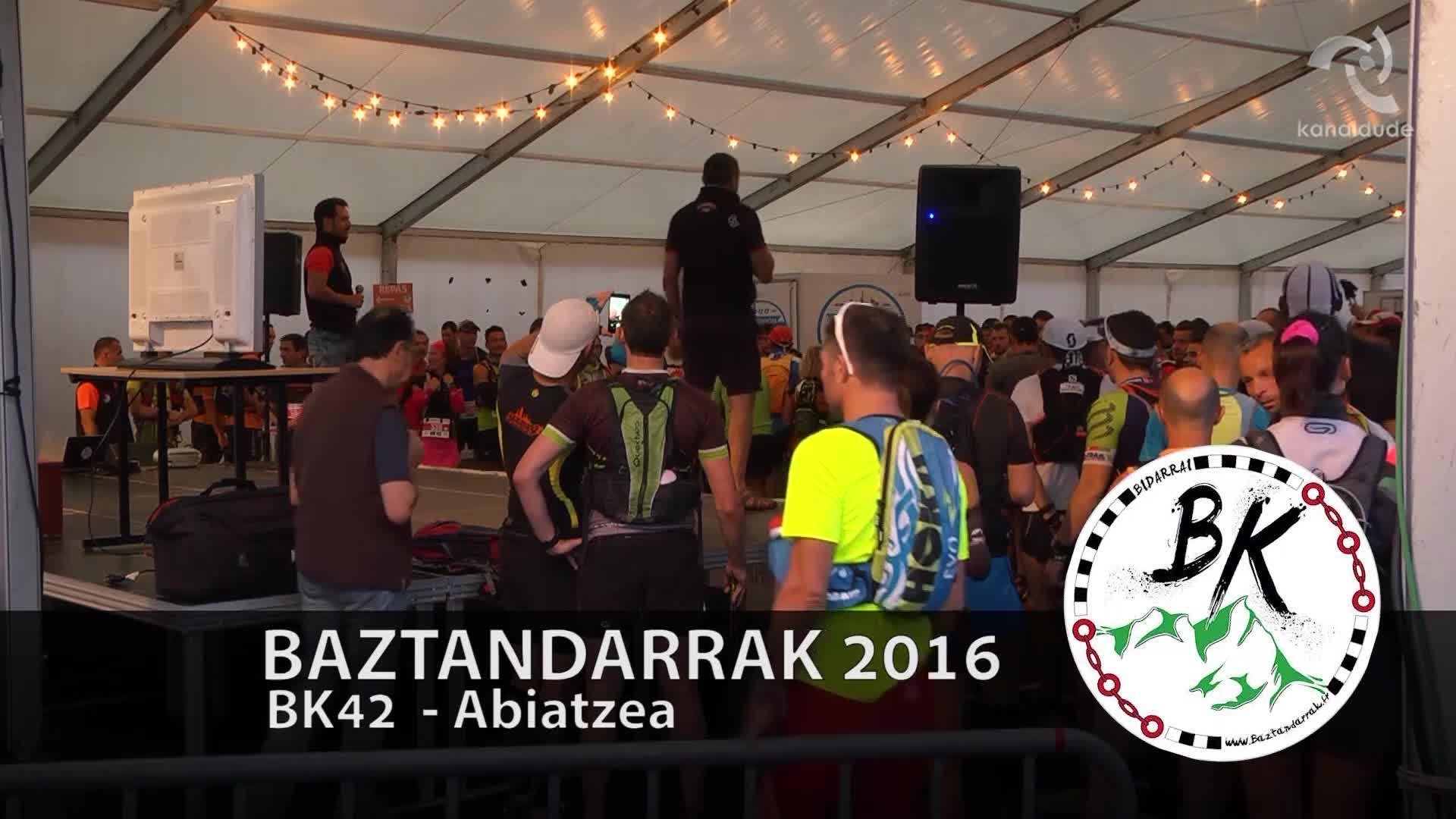 BAZTANDARRAK 2016 BK42 Abiatzea