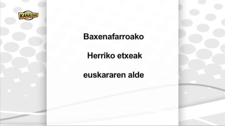 Baxe Nafarroako herriko etxeak euskararen alde
