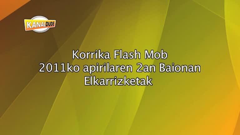 KORRIKA 2011 : Flashmob Baionan, elgarrizketak