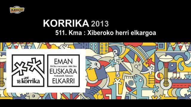 KORRIKA 2013: KM 511 Xiberoko herri elkargoa