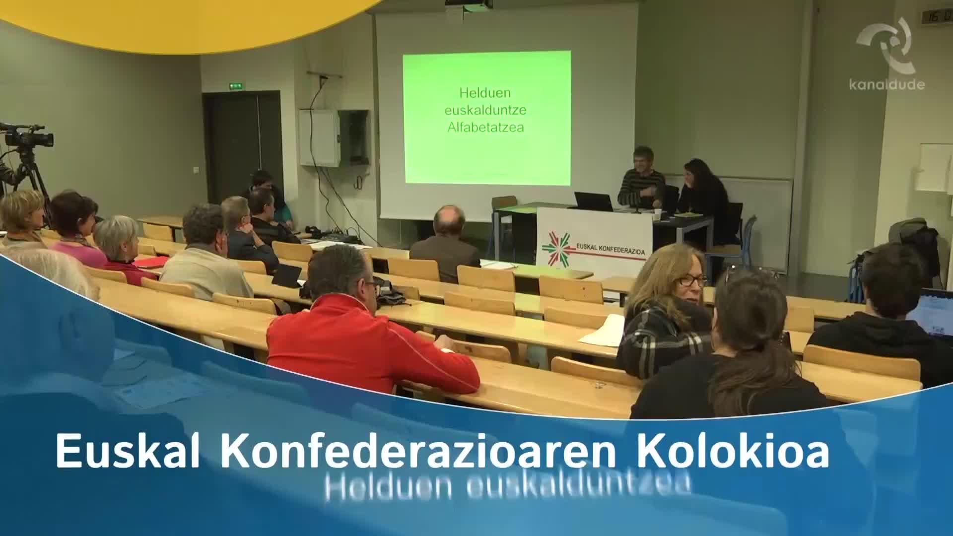 """""""Euskara 2020"""" kolokioa: Helduen euskalduntzea"""