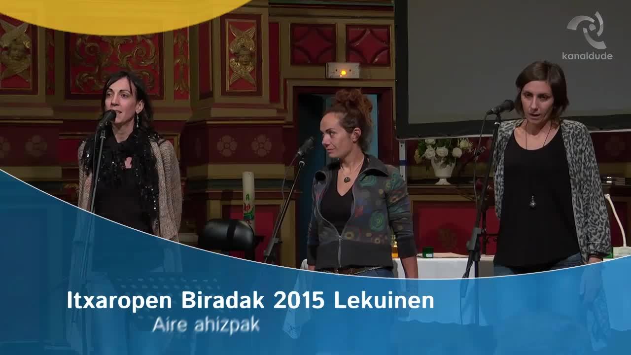 Itxaropen Biradak 2015: Aire ahizpak
