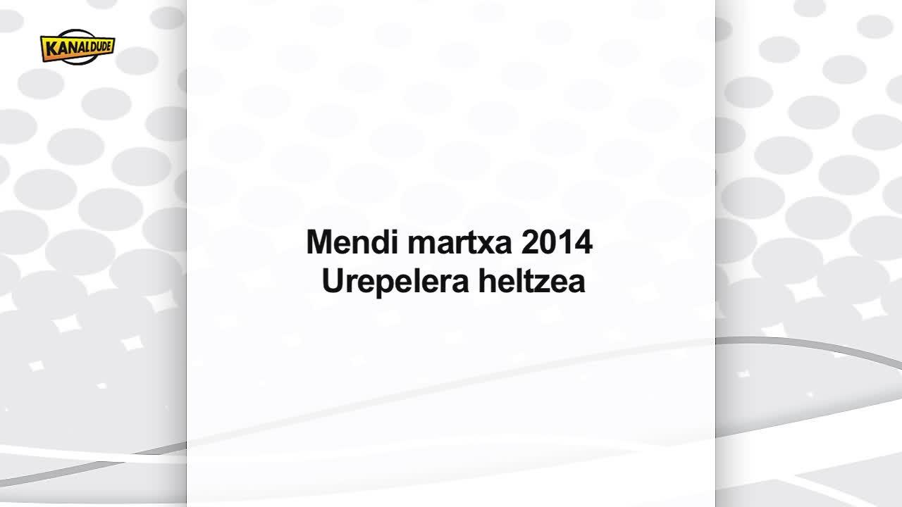 Mendi martxa 2014 Urepelera heltzea