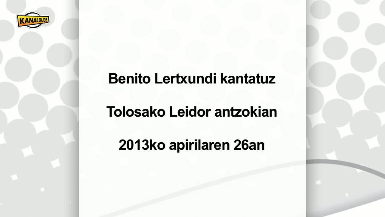 Jazz in college : Benito Lertxundi kantatuz