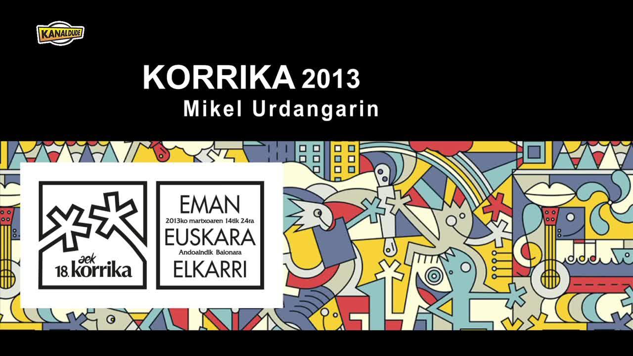 Korrika 2013 Mikel Urdangarin