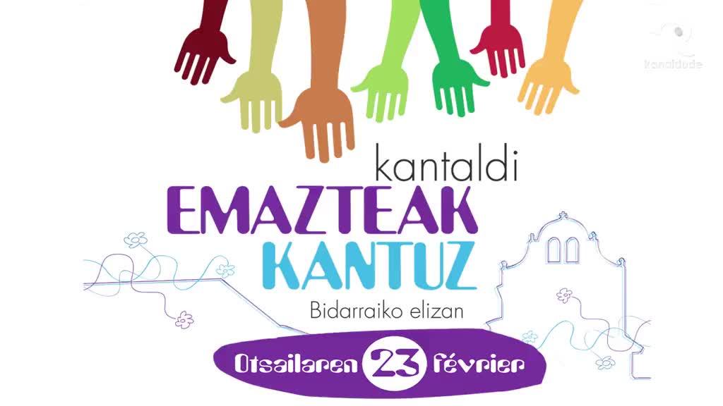 """""""Emazteak kantuz"""" kantaldia: Bagare, talde osoak emanik"""