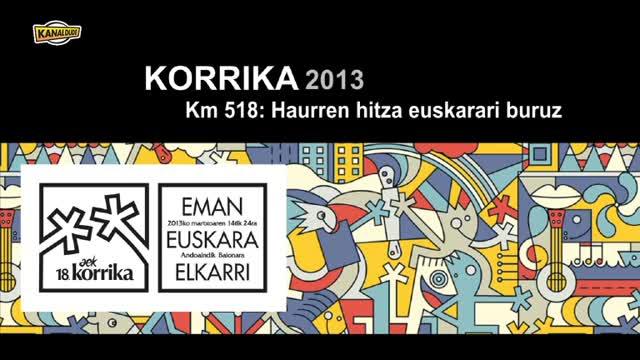 KORRIKA 2013: Maule eta Donapaleu artean (Km 518)
