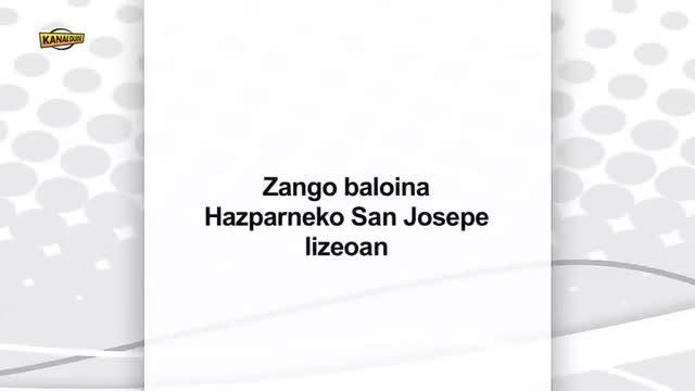 Zango baloina: Hazparneko San Josepe lizeoan