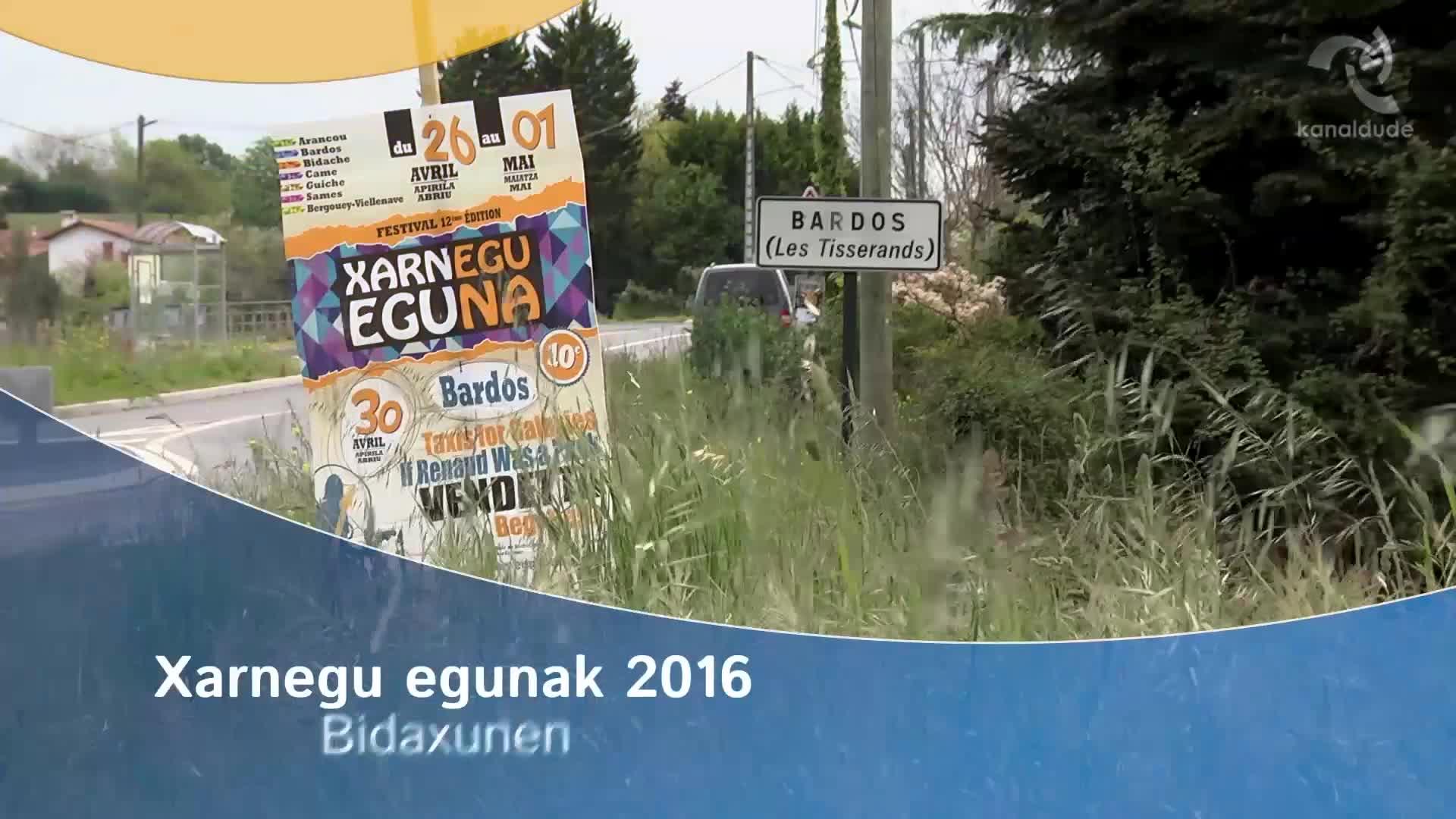 Xarnegu egunak 2016 Bidaxunen