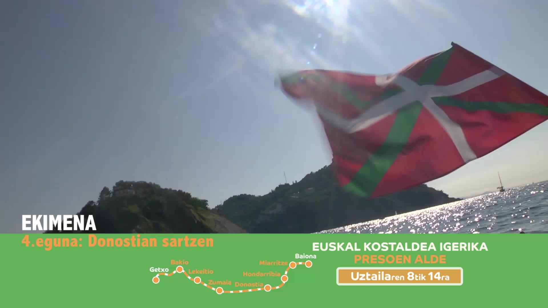 EKIMENA 4.eguna: Donostiako portuan sartzen