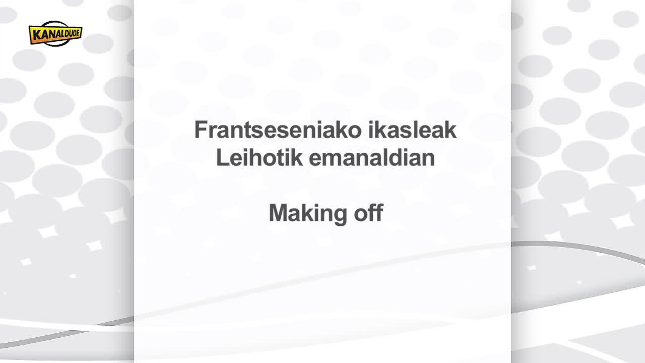 Frantsesenia, Garazi-Baigorriko lizeoaren eskutik eginiko Leihotik emanaldiaren making off-a