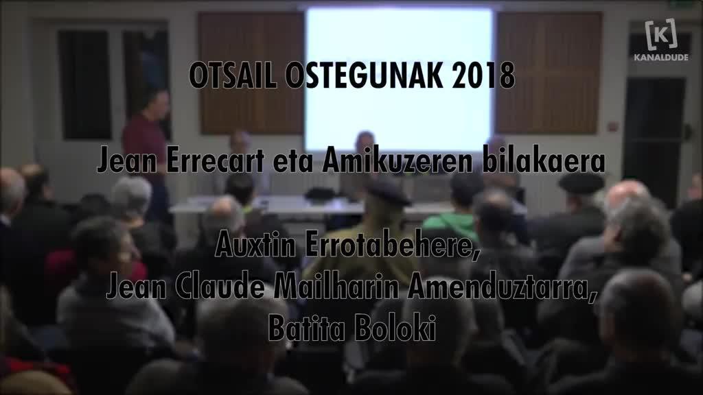 Jean Errecart eta Amikuzeren bilakaera (Otsail ostegunak 2018)