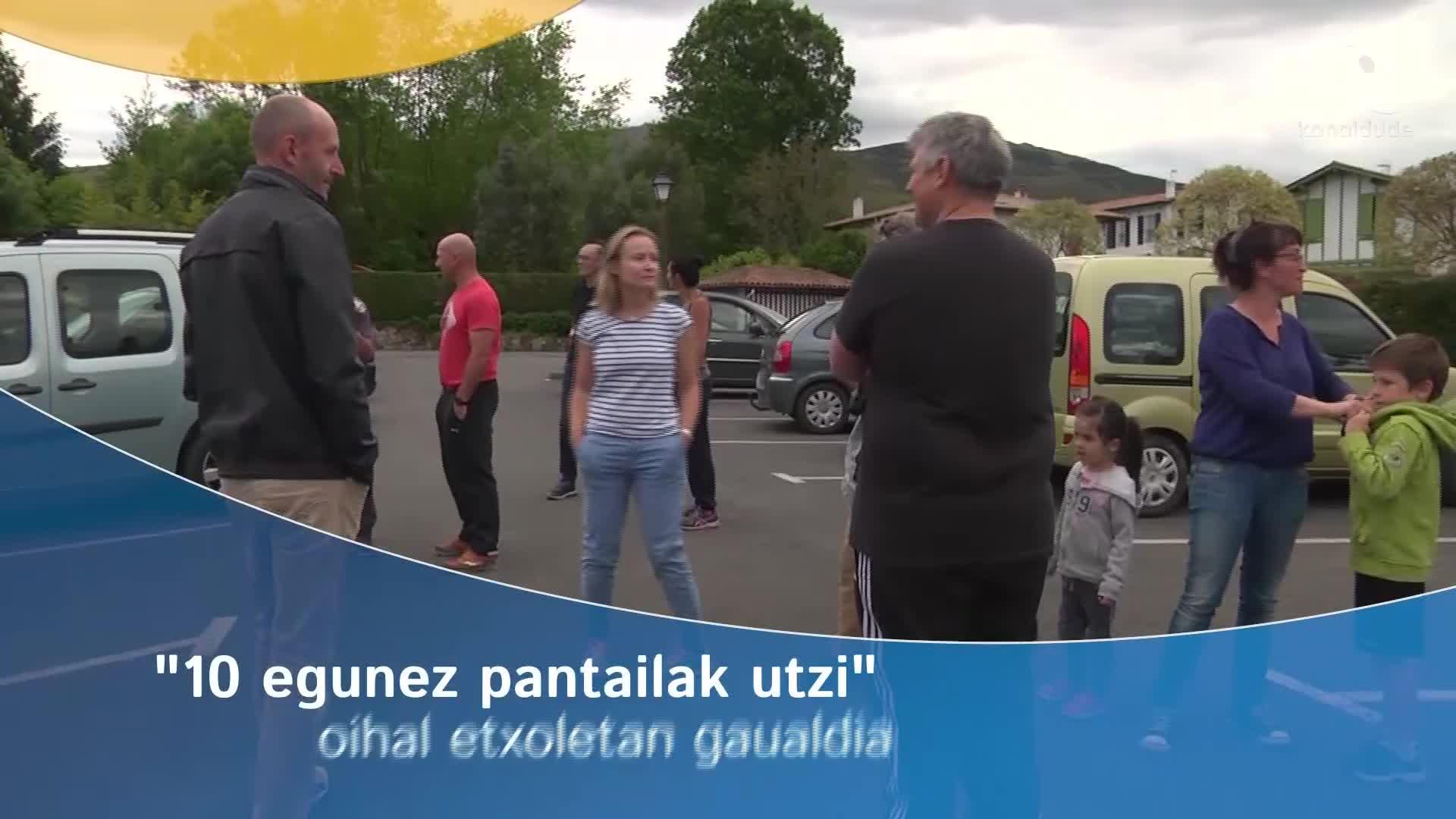 """""""10 egunez pantailak utzi"""": oihal etxeetan gaualdia"""