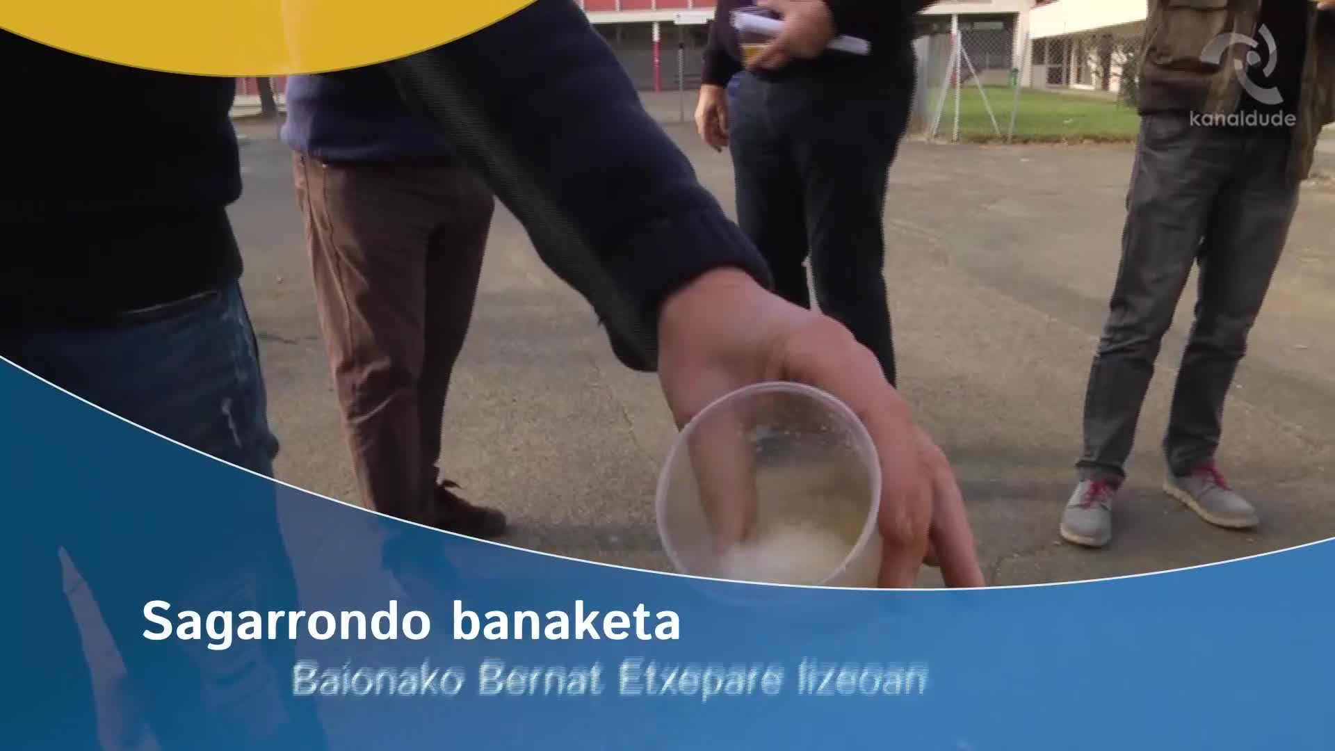 Sagarrondo banaketa Baionako Bernat Etxepare lizeoan