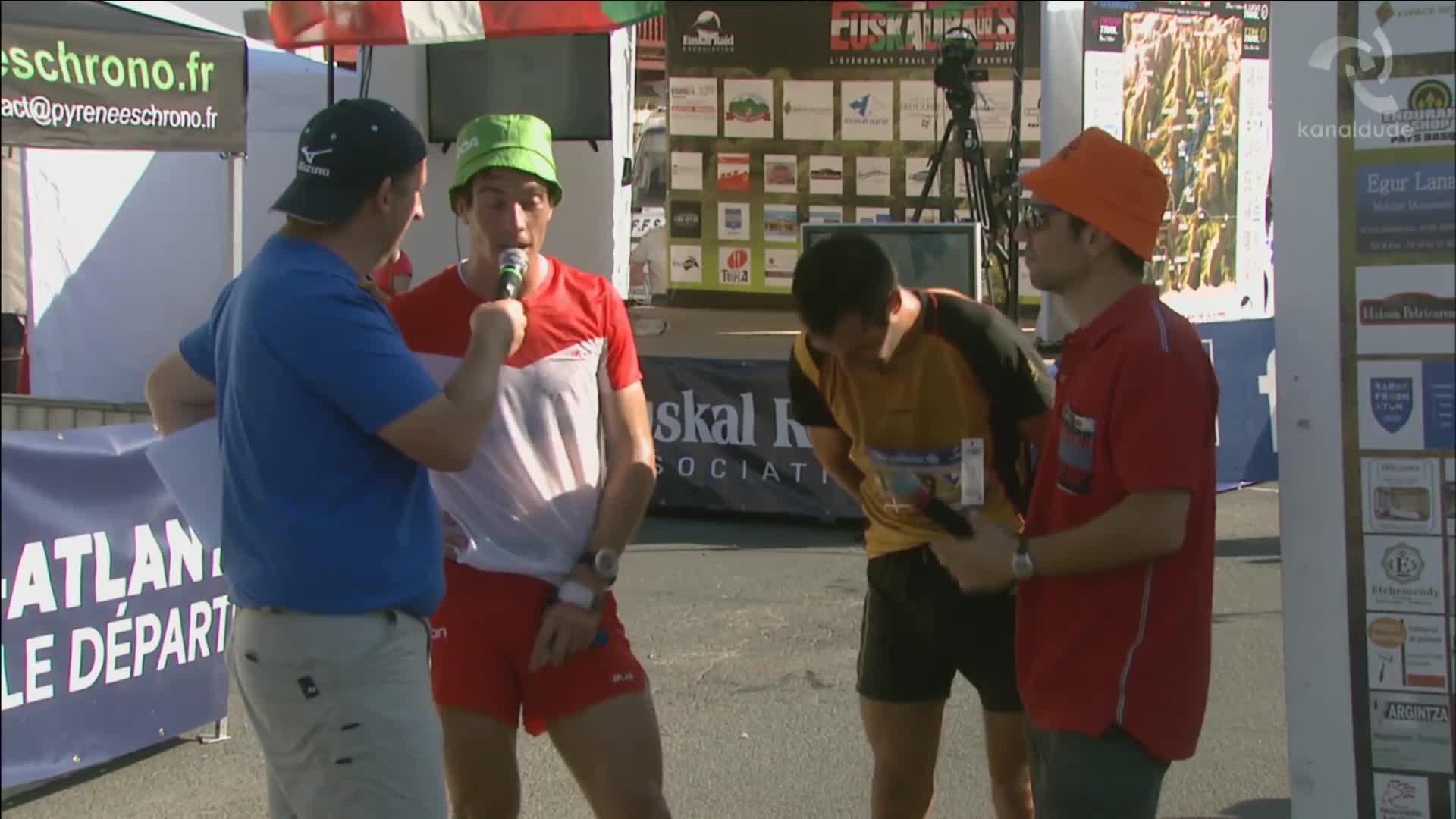 Euskal Trail 2017: Levois Etxeberriren heltzea