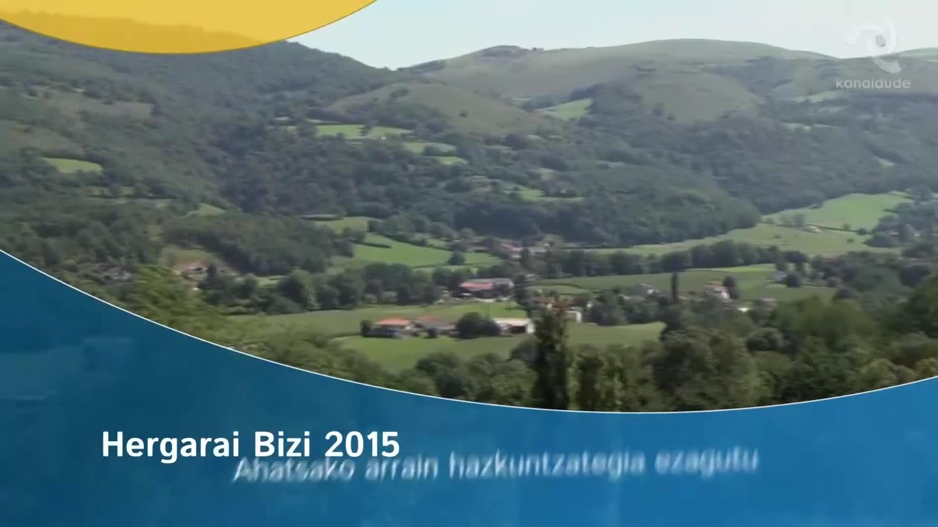 Hergarai Bizi 2015: Ahatsako arrain hazkuntzategia ezagutu