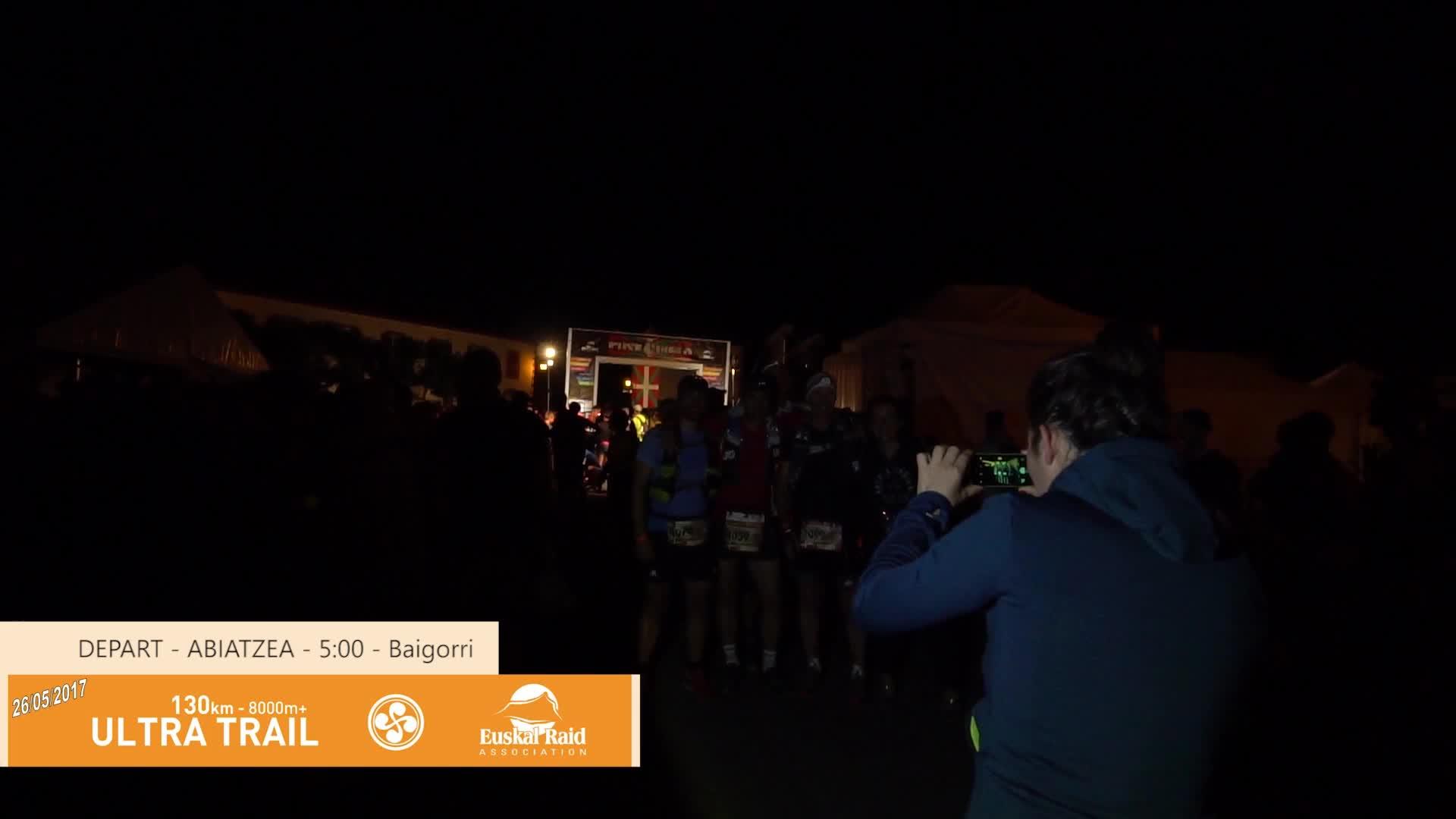 Euskal Trail  2017: Ultra Trail abiatzea