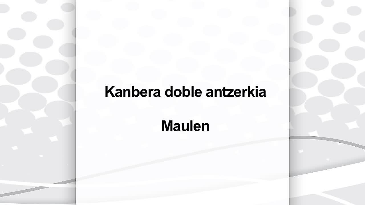 Kanbera doble antzerkia