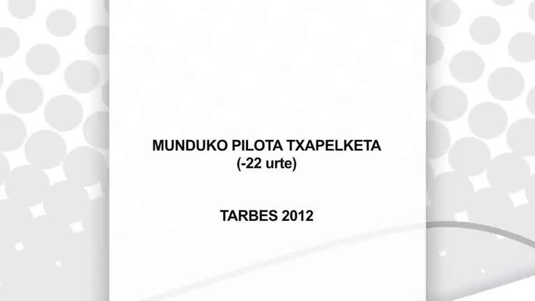Munduko Pilota Txapelketa (Tarbes 2012)