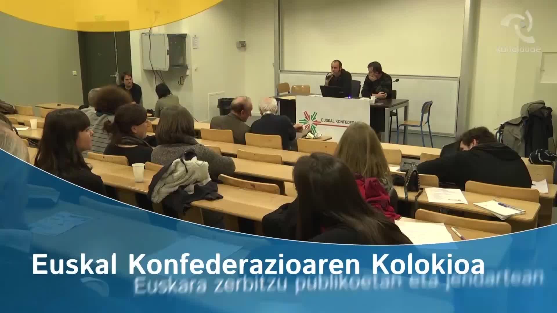 """""""Euskara 2020"""" kolokioa: Euskara zerbitzu publikoetan eta jendartean"""