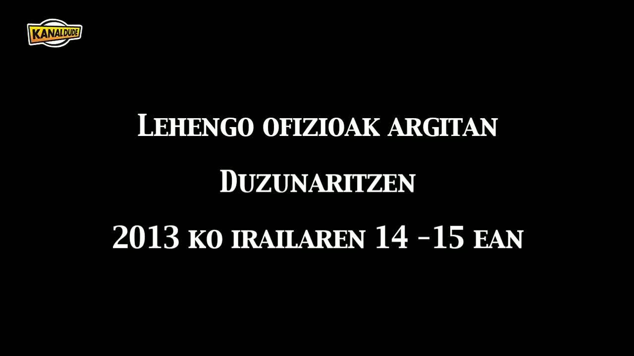 Hergarai bizi 2013: lehengo ofizioak argitan