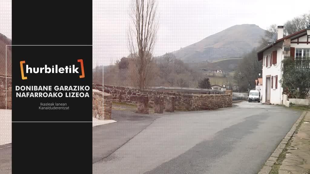 Donibane-Garaziko lizeo profesionaleko ikasleak lanean Kanalduderentzat