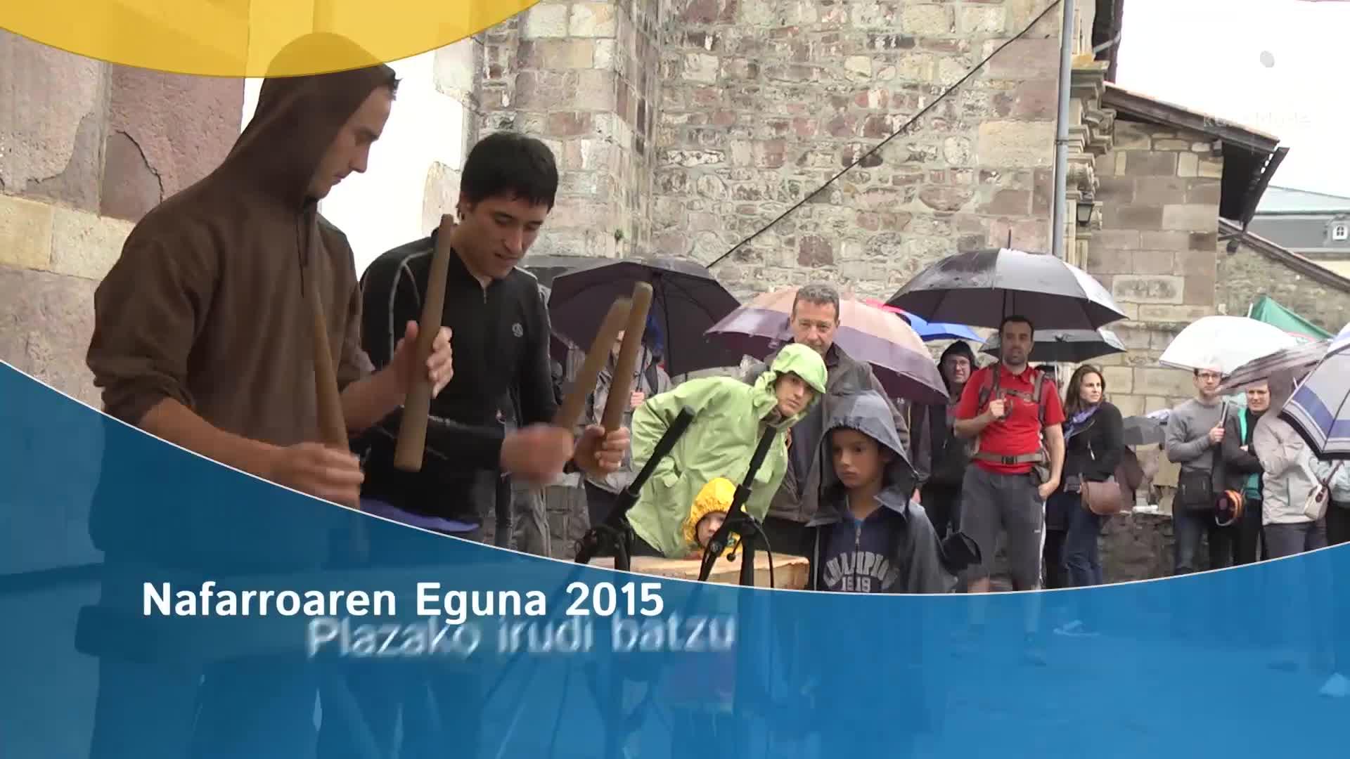 Nafarroaren Eguna 2015: Plazako irudi batzu