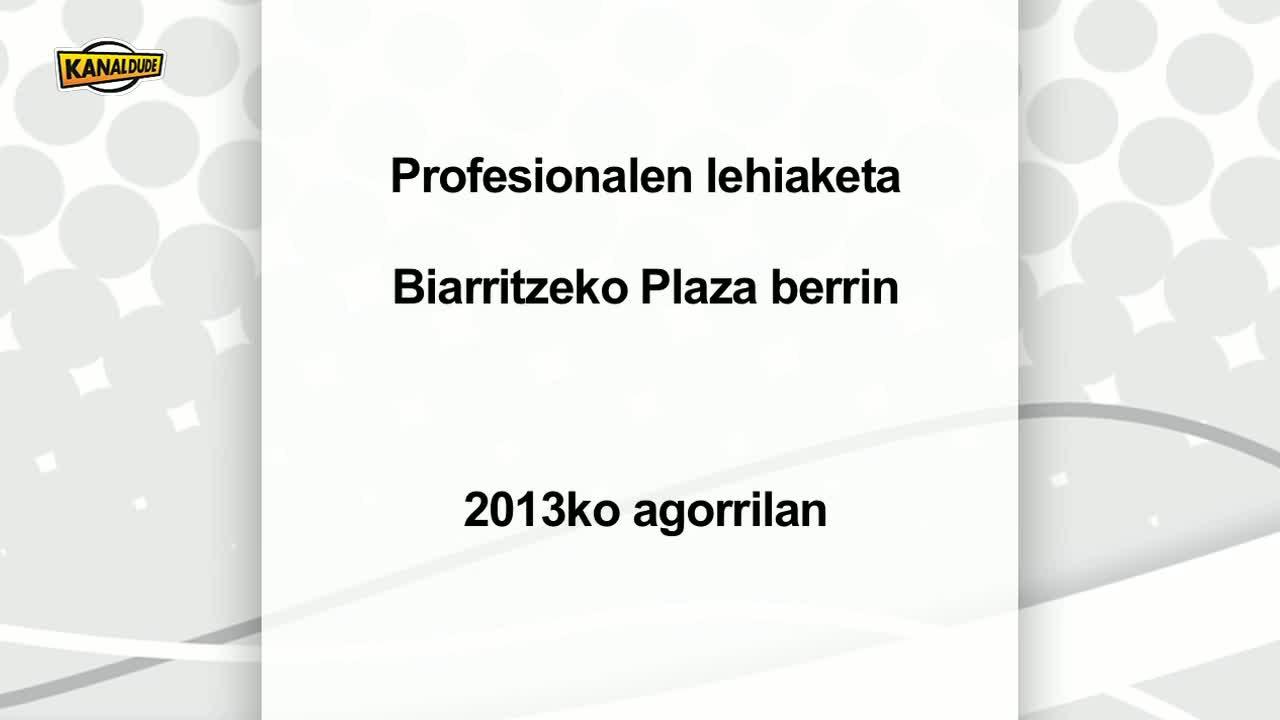 Pilota : profesionalen lehiaketa Plaza Berrin