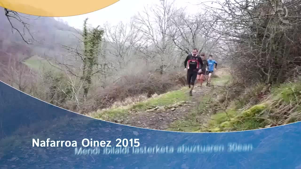 Nafarroa Oinez 2015: mendi ibilaldi-lasterketa abuztuaren 30ean