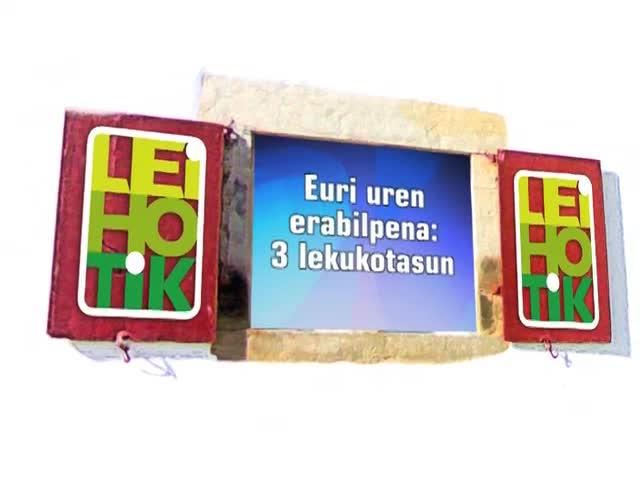 Euri uren erabilpena