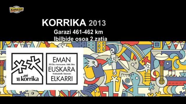 Korrika 2013: KM 461-462 Garazi