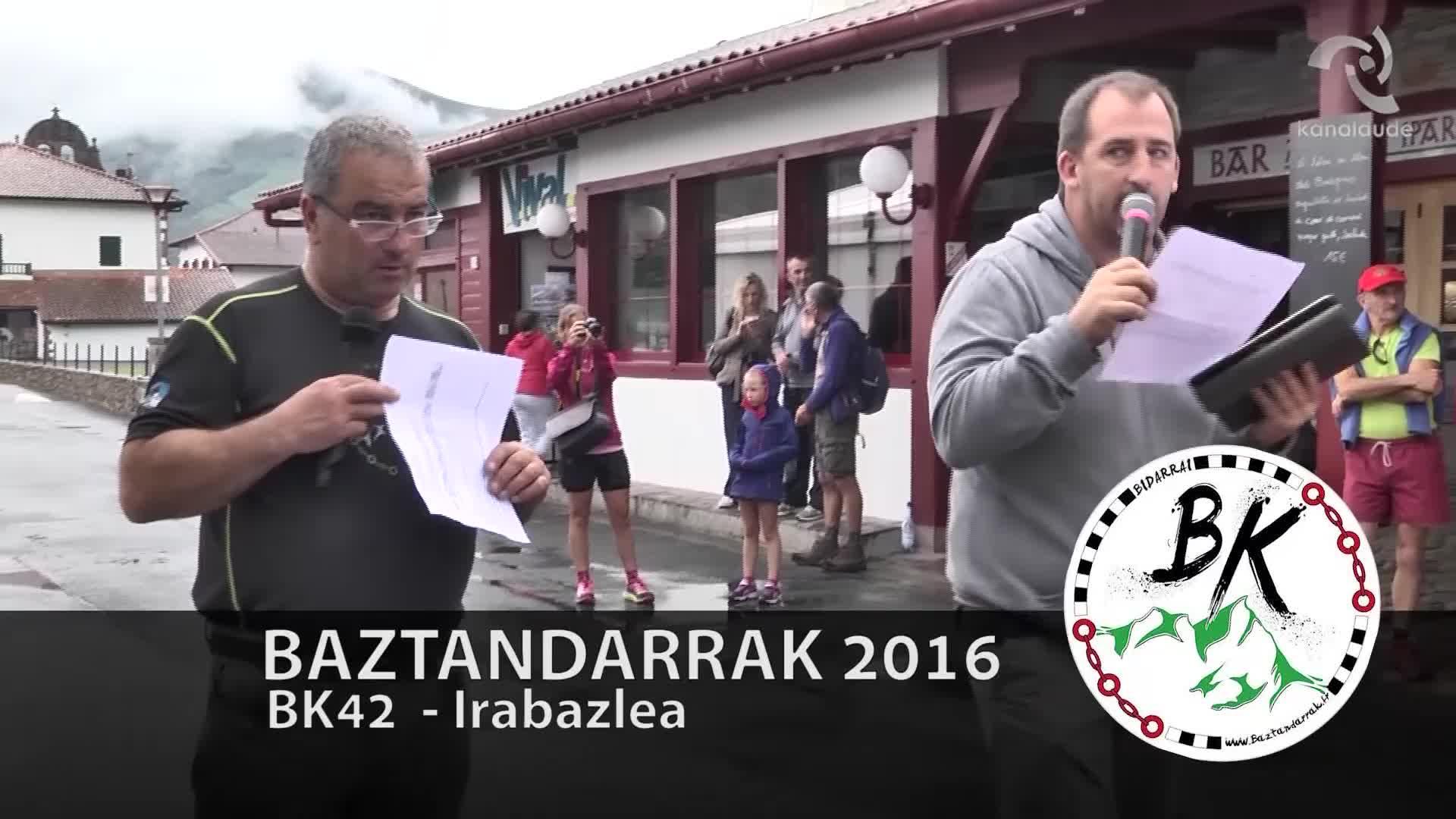 BAZTANDARRAK 2016 BK42 Lehen heltzea