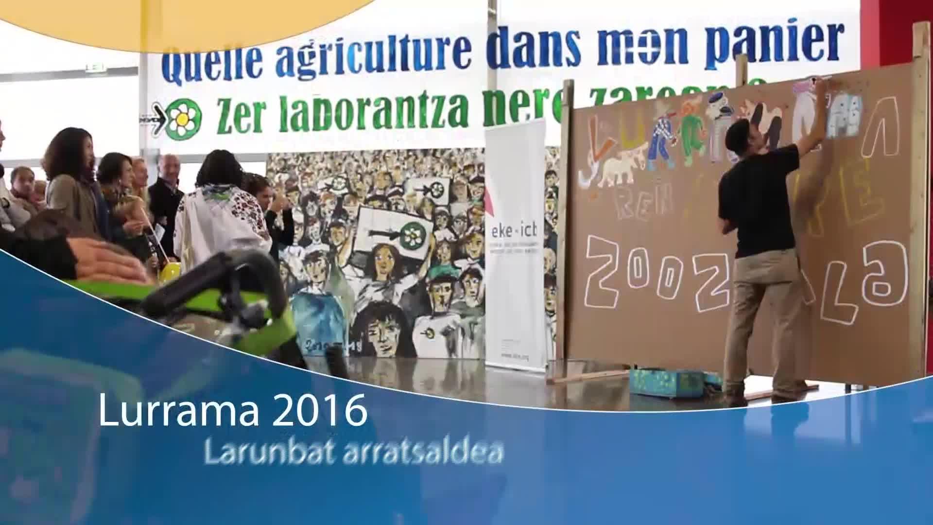 LURRAMA 2016: Larunbat arratsaldea iruditan